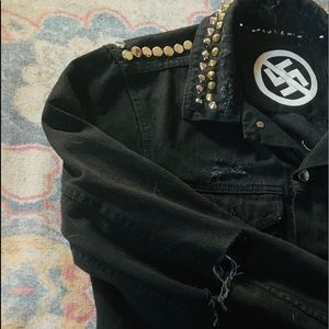 Studded Denim Jacket punk rock